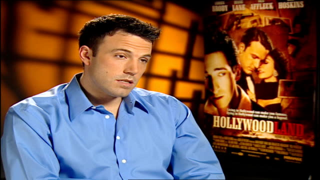 vídeos y material grabado en eventos de stock de 'hollywoodland' interviews with cast members england london int ben affleck interview sot british audiences / on deciding to star in the film rich... - superman superhéroe