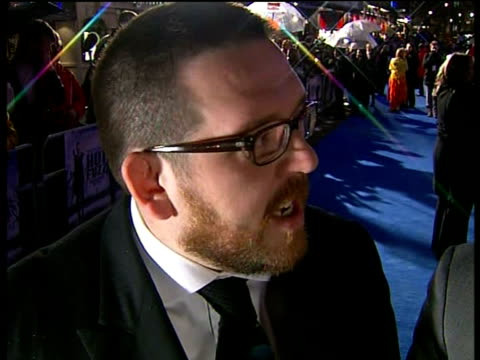 'hot fuzz' interview with simon pegg and nick frost at london premiere england london leicester square simon pegg and nick frost interview sot on... - nick frost actor stock videos & royalty-free footage