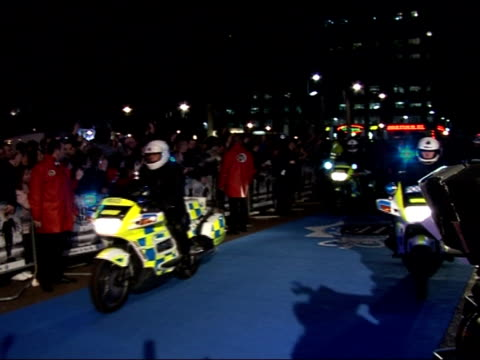 'hot fuzz' red carpet interviews at premiere general views of arrivals at premiere as copyright music heard sot including men dressed as motorbike... - simon pegg stock videos & royalty-free footage