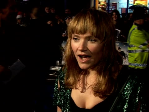 'hot fuzz' red carpet interviews at premiere jessica stevenson interview sot on why she does not appear in 'hot fuzz'/ i'm too much of a renegade /... - romantic comedy stock videos and b-roll footage