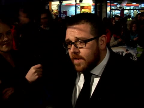 'Hot Fuzz' Red carpet interviews at premiere Nick Frost interview SOT On enjoying the premiere after feeling tense beforehand / I felt like I was...