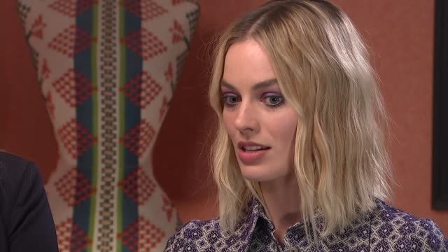 'i tonya' allison janney and margot robbie interview margot robbie interview sot re supporting women who speak up #metoo and time's up movement - time's up social movement stock videos and b-roll footage