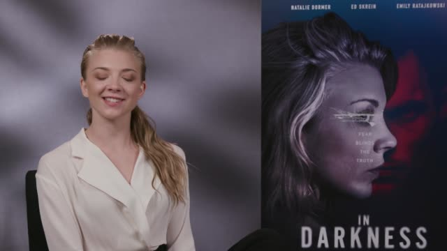 'in darkness' natalie dormer interview england london int natalie dormer interview sot - dormer stock videos and b-roll footage