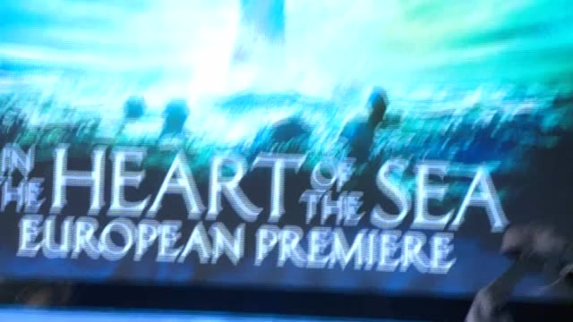 'In the Heart of the Sea' premiere ENGLAND London Leicester Square PHOTOGRAPHY*** 'In the Heart of the Sea' poster / 'In the Heart of the Sea'...