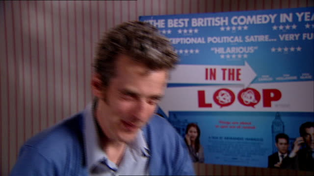 'in the loop' interviews peter capaldi interview sot discusses role as spin doctor malcolm tucker in film - in the loop 2009 film stock videos and b-roll footage