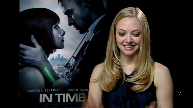 'In Time' premiere Interviews with Amanda Seyfried and Justin Timberlake ENGLAND London INT Amanda Seyfried interview SOT Mentally and emotionally...