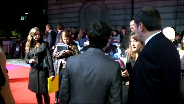 'In Time' premiere Red carpet interviews Murphy interview SOT Great craic tonight / Movie is scifi thriller / On his character complex not as he may...