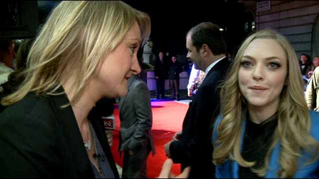 'In Time' premiere Red carpet interviews Timberlake with ITN reporter Lucrezia Millarini / Fans taking photographse / General views of Cillian Murphy...