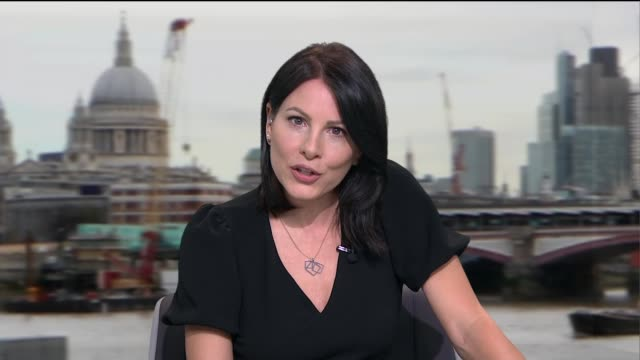 interview with makers of 'host' film; england: london: gir: int news anchor introducing item sot. - single object stock videos & royalty-free footage