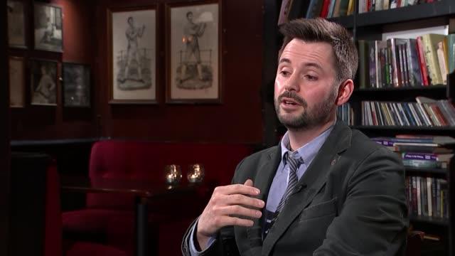 interview with screenwriter matt charman on 'bridge of spies'; charman interview sot - scriptwriter stock videos & royalty-free footage