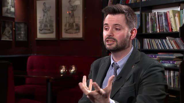 interview with screenwriter matt charman on 'bridge of spies' charman interview sot - scriptwriter stock videos & royalty-free footage
