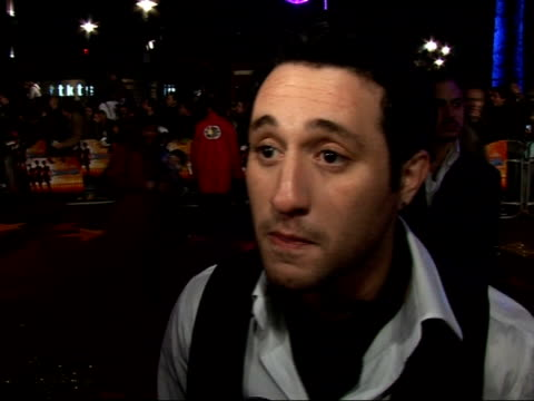 interviews with guests at 'dreamgirls' premiere anthony costa interview sot asked whether he has seen duncan james in 'dancing on ice' i have been... - danny la rue stock videos and b-roll footage