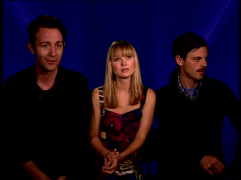 interviews with the stars of 'in search of midnight kiss' brian mcguire sara simmonds and scoot mcnairy iv interview sot on how much is scripted and... - human sexual behaviour stock videos & royalty-free footage