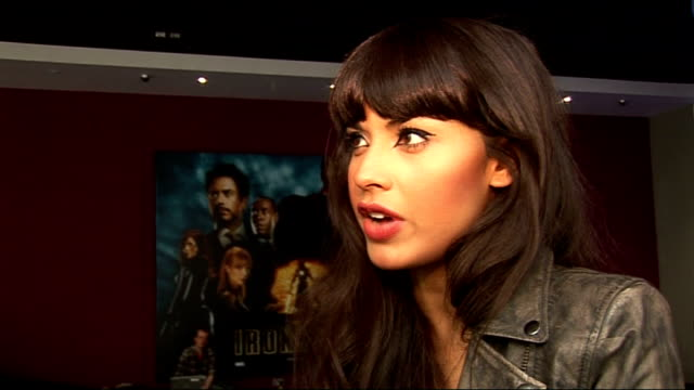 'iron man 2' vip screening at the vue cinema in london: celebrity interviews; general view jameela jamil and interview sot - on being a fan of iron... - the kinks stock videos & royalty-free footage