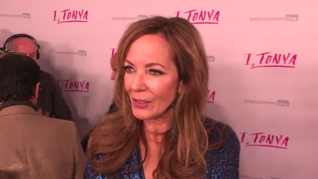 'itonya' premiere reed carpet arrivals ***warning margot robbie posing allison janney interview sot margot robbie interview sot - film premiere stock videos and b-roll footage