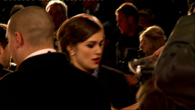 Jack Ryan Shadow Recruit Film premiere arrivals More Knightley on red carpet with fans / GVs Keira Knightley talking to Alex Zane / Keira Knightley...