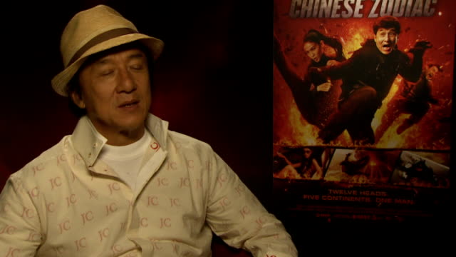 Jackie Chan interview ENGLAND London INT Jackie Chan interview SOT only up since 6 leaving after premiere back to Hong Kong there's only one Jackie...