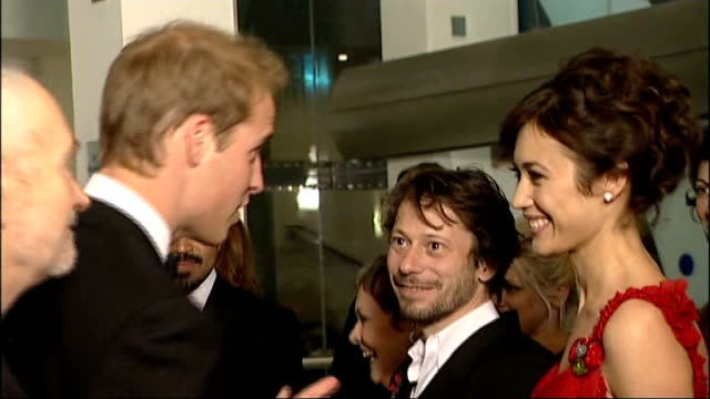 James Bond 'Quantum of Solace' premiere in London Princes William and Harry meet cast William and Harry speaking to cast members including Mathieu...