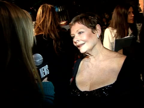 james bond 'quantum of solace' premiere in london: red carpet arrivals and interviews; judi dench speaking to press sot / judi dench interview sot -... - judi dench stock videos & royalty-free footage