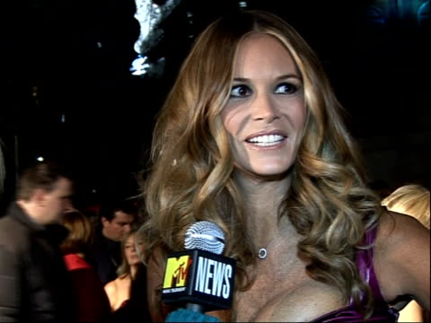 James Bond 'Quantum of Solace' premiere in London Red carpet arrivals and interviews Elle Macpherson speaking to press SOT Speaks about Bond girls...