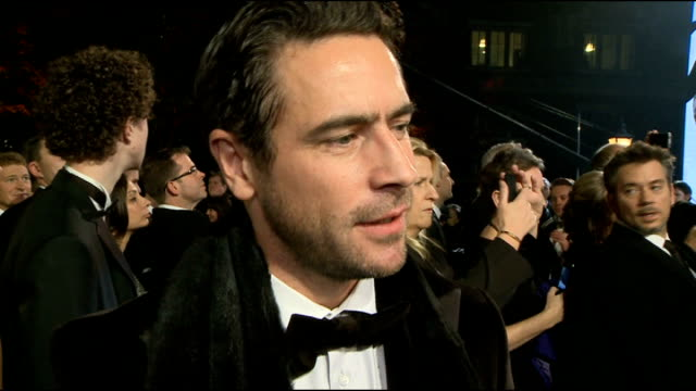 James Bond 'Skyfall' premiere Arrivals and interviews Ola Rapace chatting to press on red carpet Ola Rapace interview SOT Working with Daniel Craig...
