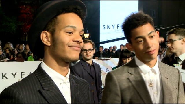 James Bond 'Skyfall' premiere Arrivals and interviews Rizzle Kicks interview SOT Huge Bond fans Favourite candidates for Bond girls interview SOT...