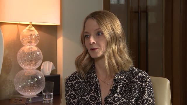 jodie foster interview jodie foster interview sot on best material happening in television and cable / hollywood won't repair it's ways as performer... - cable box stock videos & royalty-free footage