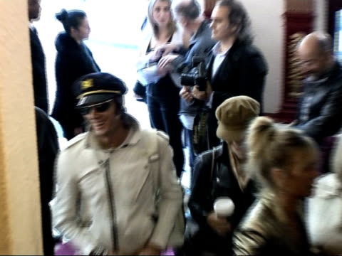 the future is unwritten': interviews / premiere arrivals; arrivals at notting hill coronet cinema for premiere of film documentary 'joe strummer: the... - chrissie hynde stock videos & royalty-free footage