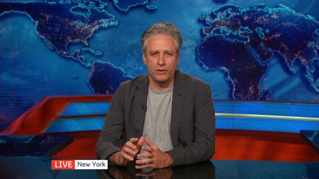 Jon Stewart makes debut with film 'Rosewater' ENGLAND London GIR INT Jon Stewart LIVE 2WAY Interview ex New York SOT on why he made film Maziar's...