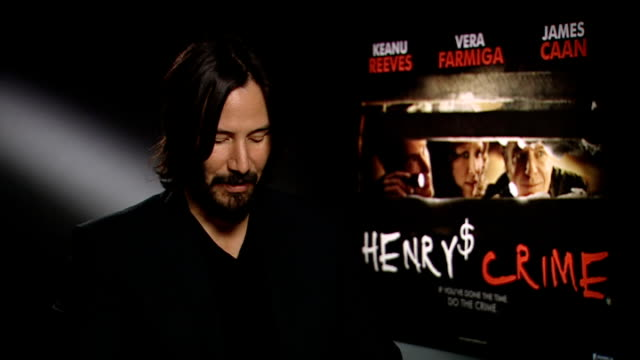 keanu reeves interview; reeves interview sot - on possibility of a new bill and ted film - keanu reeves stock videos & royalty-free footage