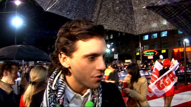 'Kick Ass' London premiere Red carpet interviews Mika interview SOT On how he was asked to be part of the soundtrack Coming up with the music in just...