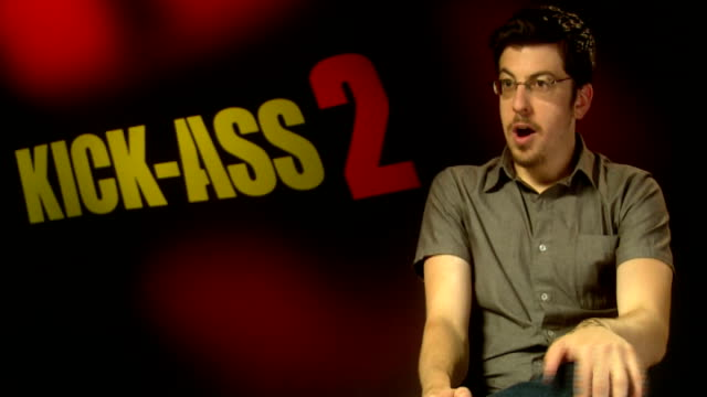 'kickass 2' junket interview england london int christopher mintzplasse interview sot / chloe moretz interview sot - kick ass film title stock videos & royalty-free footage