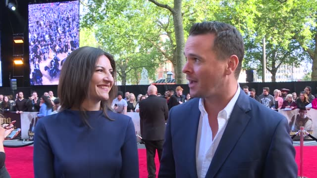'king arthur legend of the sword' london premiere red carpet interviews england london leicester square ext general views red carpet / king arthur... - aidan gillen stock videos & royalty-free footage