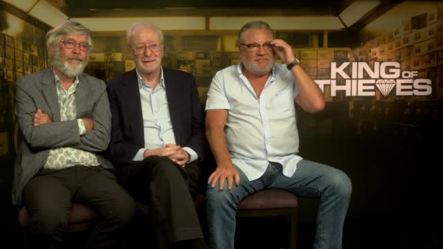 'king of thieves' tom courtenay michael caine and ray winstone junket interview england london int tom courtenay michael caine and ray winstone... - tom courtenay stock videos & royalty-free footage