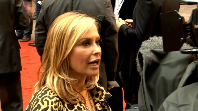 'Knight and Day' premiere in London Tom Cruise and Cameron Diaz arrivals Anastacia speaking to press SOT BV Cruise with fans Anastacia interview SOT...