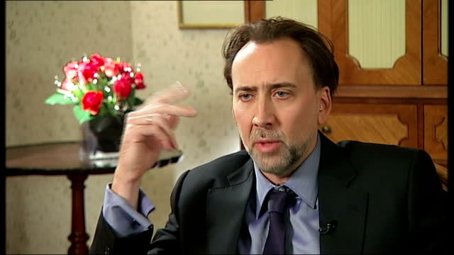 'Knowing' Nicholas Cage interview ENGLAND London INT Nicholas Cage interview SOT discusses new film 'Knowing'