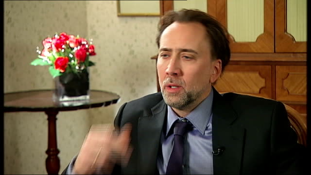 'Knowing' Nicholas Cage interview Nicholas Cage interview SOT