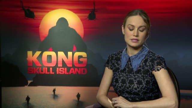 'kong skull island' junket interviews film 'kong skull island' junket interviews brie larson interview sot - brie stock videos & royalty-free footage