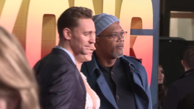 'Kong Skull Island' premiere Film 'Kong Skull Island' premiere Brie Larson on red carpet with Tom Hiddleston / Samuel L Jackson on red carpet Samuel...
