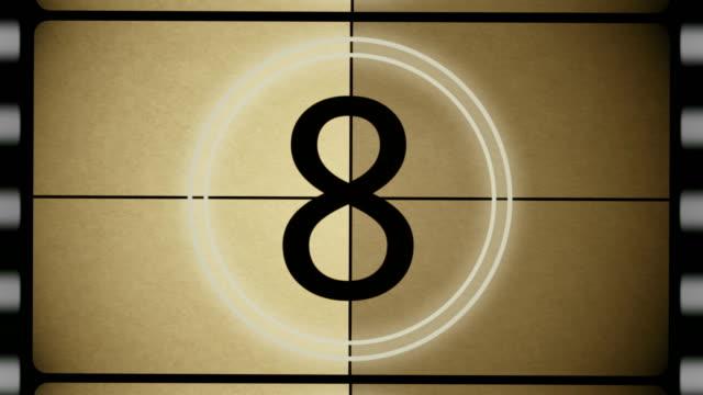 4K Film Leader Top Ten Countdown