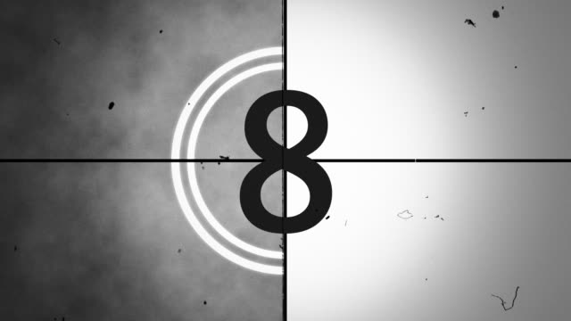 film leader - countdown stock videos & royalty-free footage