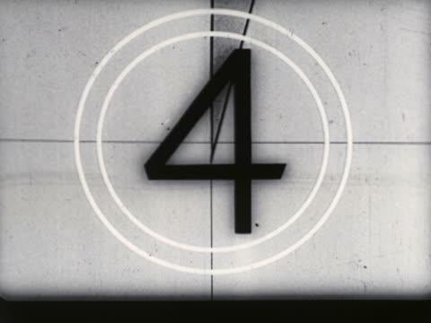 vidéos et rushes de film leader with countdown - format vidéo mpeg