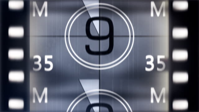 film leader with sound - countdown stock videos & royalty-free footage