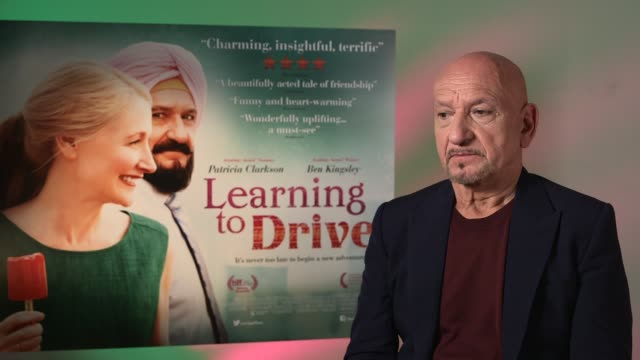 Learning To Drive Sir Ben Kingsley and Patricia Clarkson interviews ENGLAND London INT Sir Ben Kingsley interview SOT/