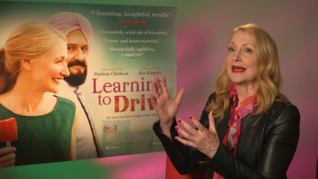 learning to drive sir ben kingsley and patricia clarkson interviews patricia clarkson interview sot - ben kingsley stock videos and b-roll footage