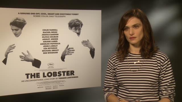 lobster premiere junket interviews england london int rachel weisz interview sot colin farrell interview sot - rachel weisz stock videos & royalty-free footage