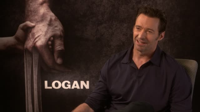 Logan junket interviews Film Logan junket interviews ENGLAND London INT Hugh Jackman interview SOT On being at peace that we've seen all sides of...