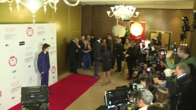 London Critics' Circle Awards 2018 red carpet interviews GVs of red carpet including Armie Hammer with wife Elizabeth Chambers Timothee Chalamet and...