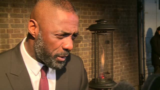 london evening standard british film awards 2016; england: london: ext idris elba interview sot - film award type stock videos & royalty-free footage