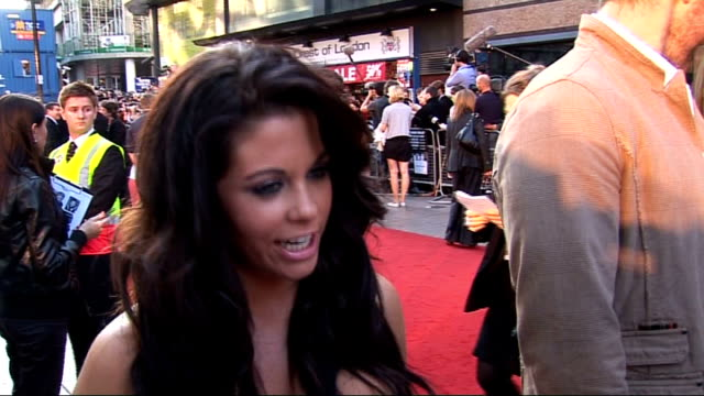 london premiere of 'state of play' red carpet interviews bianca gascoigne interview sot on her new show about transforming her body / on detoxing... - russell crowe stock videos & royalty-free footage